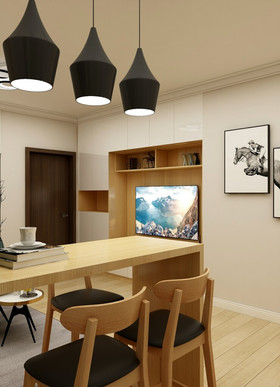 50平米日式风格餐厅装修图片大全