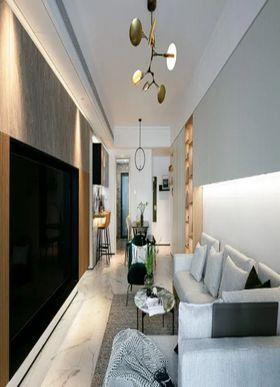 80平米三室一厅美式风格客厅图