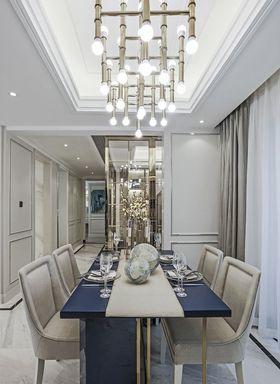 110平米三室两厅法式风格餐厅欣赏图