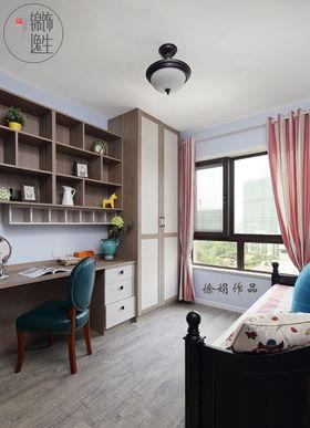 豪华型120平米三室两厅美式风格书房设计图