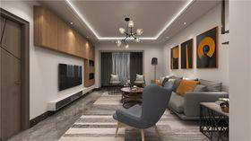 140平米三室兩廳現代簡約風格走廊設計圖