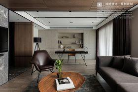 140平米三现代简约风格书房设计图