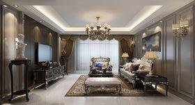 140平米三室两厅法式风格客厅设计图