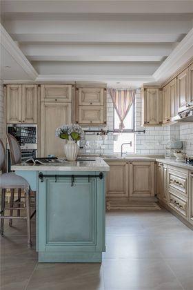 140平米三室两厅美式风格厨房装修效果图