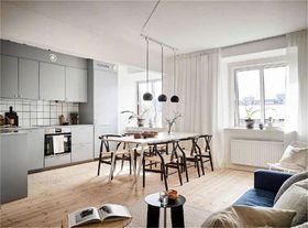 70平米三室一厅现代简约风格餐厅欣赏图