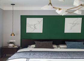 130平米三室一厅北欧风格卧室图片大全