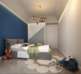 130平米三室一厅现代简约风格儿童房装修效果图
