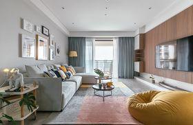 90平米四室兩廳現代簡約風格客廳裝修圖片大全