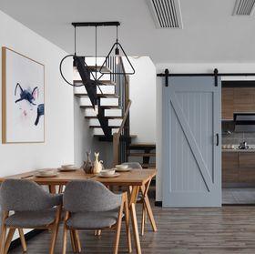 140平米四室两厅北欧风格楼梯间图片大全