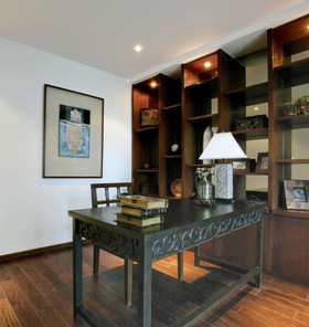 140平米别墅东南亚风格书房设计图
