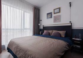 90平米三室一厅现代简约风格卧室图片大全