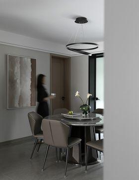 5-10万110平米三室两厅现代简约风格餐厅装修效果图
