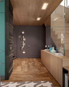 100平米三室一厅混搭风格玄关装修图片大全