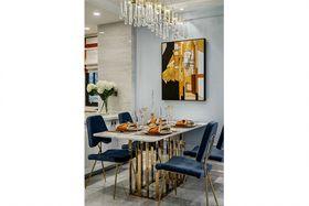 120平米三室两厅美式风格餐厅设计图