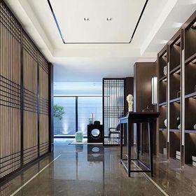 90平米三室两厅中式风格走廊欣赏图