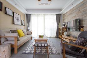 富裕型100平米三室两厅日式风格客厅欣赏图