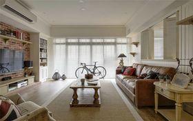 120平米三室两厅英伦风格客厅图片