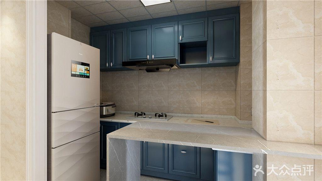 90平米三室两厅现代简约风格厨房设计图