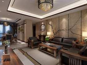 140平米三室兩廳中式風格客廳圖