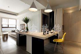 5-10万80平米三室一厅日式风格客厅图