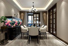 140平米四室兩廳中式風格餐廳圖