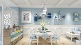 90平米三室两厅地中海风格餐厅图
