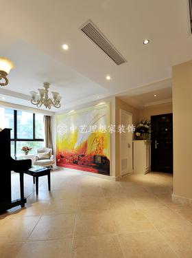 120平米三室一厅现代简约风格走廊装修案例