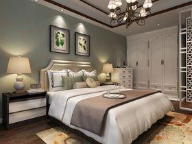 110平米别墅中式风格卧室背景墙欣赏图