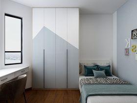 110平米三室两厅中式风格卧室装修图片大全