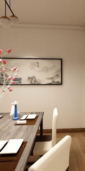 经济型90平米三室两厅现代简约风格餐厅图