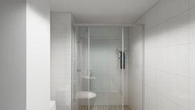 70平米复式混搭风格卫生间设计图