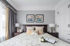100平米三室两厅美式风格卧室装修图片大全