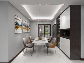 120平米三室兩廳現代簡約風格餐廳效果圖
