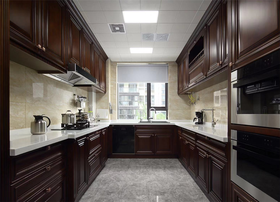 130平米三室两厅美式风格厨房装修效果图