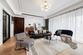 120平米三室一厅法式风格客厅欣赏图