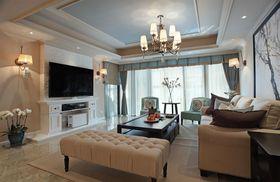 120平米美式风格客厅装修效果图