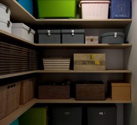140平米四中式风格储藏室设计图