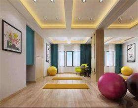 120平米三现代简约风格健身室装修图片大全