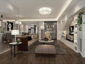120平米三現代簡約風格客廳裝修案例