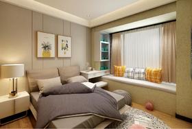 70平米三室两厅北欧风格卧室欣赏图