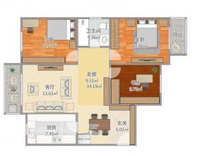 5-10万60平米法式风格楼梯装修效果图