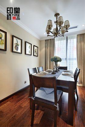 富裕型130平米三室两厅美式风格餐厅装修案例