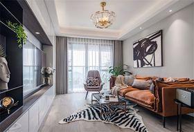 豪华型80平米现代简约风格客厅效果图