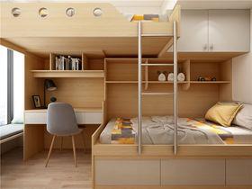 90平米三室两厅北欧风格卧室装修效果图