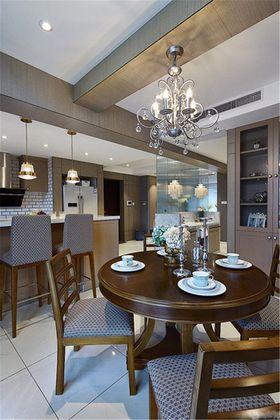 富裕型80平米三室两厅美式风格餐厅图