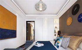 90平米三室两厅现代简约风格餐厅欣赏图