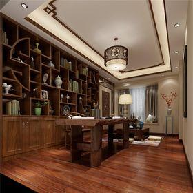 130平米四室一厅中式风格书房欣赏图