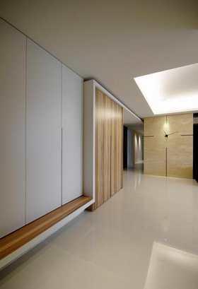 15-20万140平米三室一厅混搭风格走廊装修案例