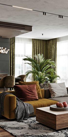 140平米三室一厅宜家风格客厅图片