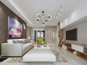 经济型130平米三室两厅现代简约风格餐厅效果图